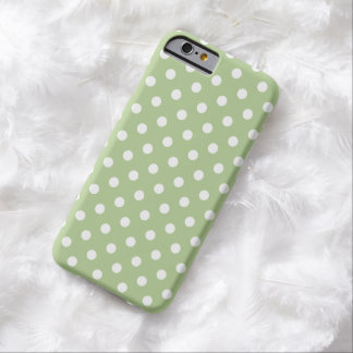 Cas de l'iPhone 6 de point de polka en vert de mar Coque iPhone 6 Barely There