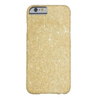 Cas de l'iPhone 6 de scintillement d'or de Faux