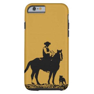 Cas de l'iPhone 6 de trio de cowboy - noir et or Coque iPhone 6 Tough