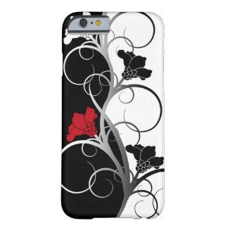 Cas de l'iPhone 6 fleurs noires/blanches