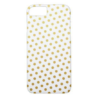 Cas de l'iPhone 7 de motif de point de polka d'or Coque iPhone 7
