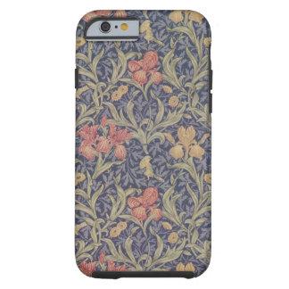 Cas de motif d'iris de William Morris pour le cas  Coque iPhone 6 Tough
