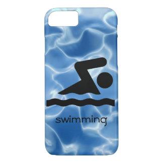 Cas de natation de téléphone de conception coque iPhone 7