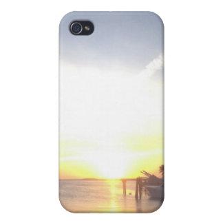 Cas de téléphone de coucher du soleil de clés de l coques iPhone 4