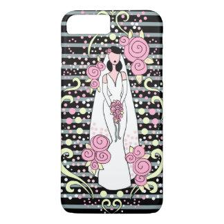 cas de téléphone de jeune mariée de mariage coque iPhone 7 plus