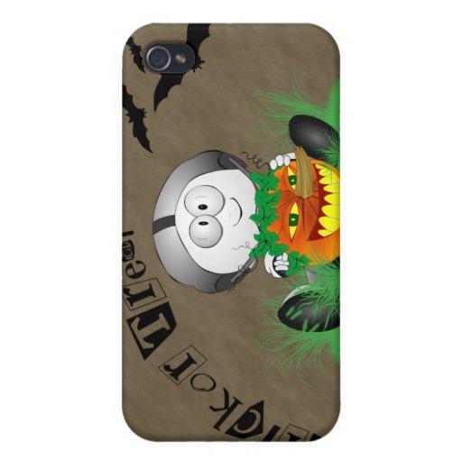 Cas déplaisant de Jack-o'-lantern iPhone4 Coque iPhone 4