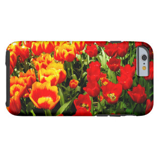 Cas d'Iphone 6 avec les tulipes rouges et jaunes Coque iPhone 6 Tough