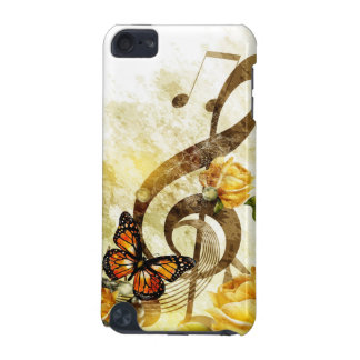Cas du contact 5G d'iPod de notes de musique de Coque iPod Touch 5G