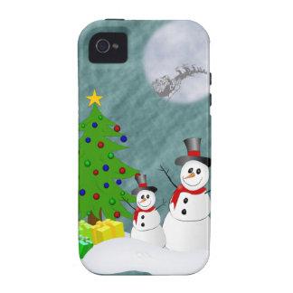 Cas dur de l'iPhone 4 de bonhommes de neige Étui Vibe iPhone 4