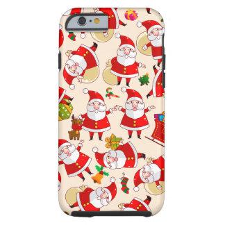Cas dur de l'iPhone 6 d'or rouge de Père Noël de Coque Tough iPhone 6