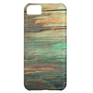 Cas en bois artistique de l'iphone 5 de grain coque iPhone 5C