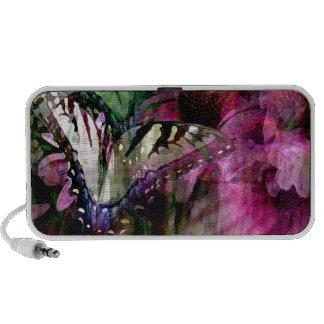 Cas et cadeaux de téléphone de jardin de papillon haut-parleurs