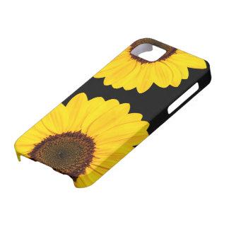 Cas floral de l'iPhone 5 de beaux tournesols jaune Coques iPhone 5