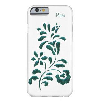 Cas floral de l'iPhone 6 de sembler de chrome Coque iPhone 6 Barely There
