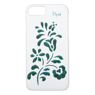 Cas floral de l'iPhone 7 de sembler de chrome Coque iPhone 7
