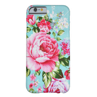 Cas floral rose chic vintage de l'iPhone 6 Coque iPhone 6 Barely There