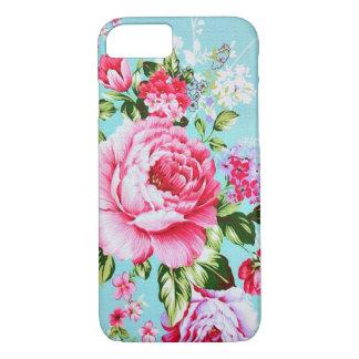 Cas floral rose chic vintage de l'iPhone 7 Coque iPhone 7