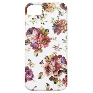 Cas floral vintage de téléphone de motif coque iPhone 5 Case-Mate