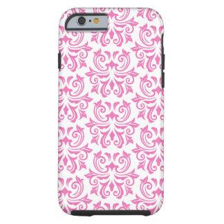Cas floral vintage rose de l'iPhone 6 de motif de  Coque Tough iPhone 6