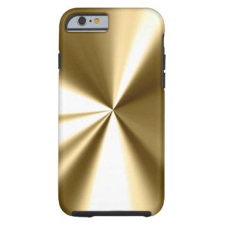 Cas frais de l'iPhone 6 de regard en métal d'or