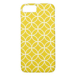Cas géométrique jaune citron de l'iPhone 7 de Coque iPhone 7