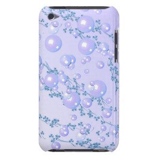 cas lilas de Coque-Compagnon de perle Étuis iPod Touch