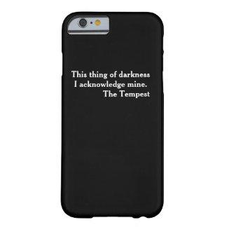 Cas littéraire intelligent de téléphone de coque iPhone 6 barely there