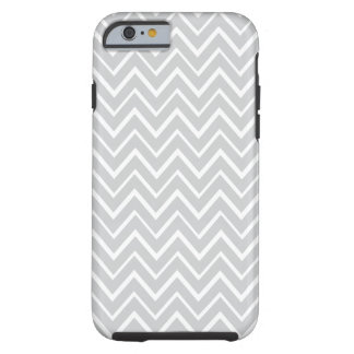 Cas lunatique gris-clair de motif de chevron de zi coque iPhone 6 tough