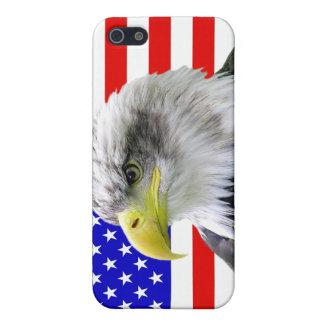 Cas patriotique de l'iPhone 5 d'Américain Eagle et Étui iPhone 5