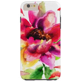 Cas plus de l'iPhone 6 durs roses vintages floraux Coque iPhone 6 Plus Tough