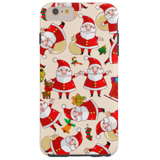 Cas plus de l'iPhone 6 durs rouges de Père Noël de Coque Tough iPhone 6 Plus