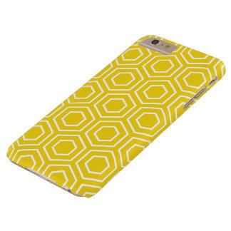 Cas plus de l'iPhone 6 géométriques jaune citron Coque iPhone 6 Plus Barely There