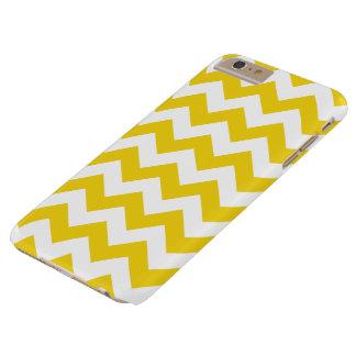 Cas plus de l'iPhone 6 jaune citron de Chevron de Coque Barely There iPhone 6 Plus