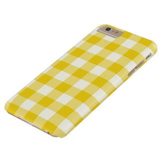 Cas plus de l'iPhone 6 jaune citron de guingan Coque iPhone 6 Plus Barely There