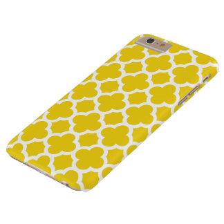cas plus de l'iPhone 6 - Quatrefoil jaune citron Coque iPhone 6 Plus Barely There