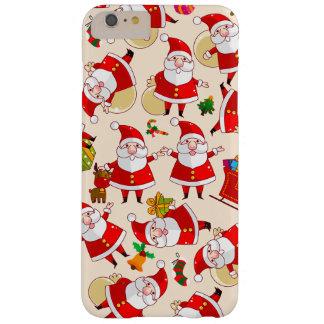 Cas plus de l'iPhone 6 rouges d'or de Père Noël de Coque iPhone 6 Plus Barely There