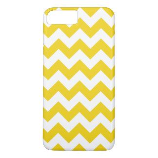 Cas plus de l'iPhone 7 jaune citron de Chevron de Coque iPhone 7 Plus