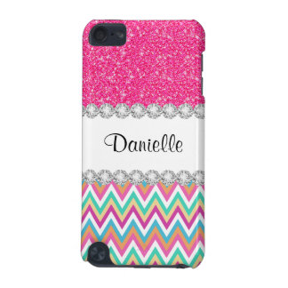 Cas rose de contact de Chevron 5G iPod de pastels Coque iPod Touch 5G