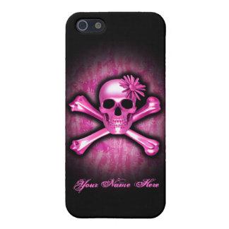 Cas rose de l'iPhone 5/5S de crâne de chrome iPhone 5 Case