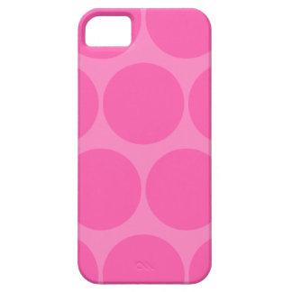 Cas rose de l'iPhone 5 de point de polka Coques iPhone 5