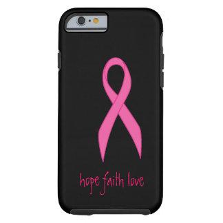 Cas rose de l'iPhone 6 d'amour de foi d'espoir de  Coque Tough iPhone 6