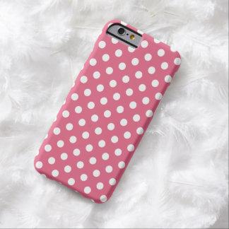 Cas rose de l'iPhone 6 de point de polka de Coque Barely There iPhone 6