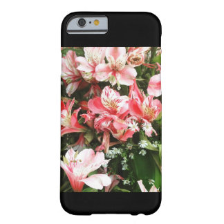 Cas rose Girly de téléphone de fleurs Coque iPhone 6 Barely There