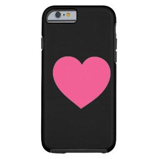 Cas rose simple simple de l'iPhone 6 de noir de co