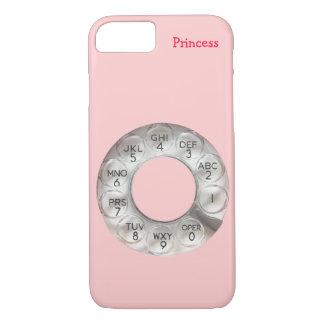 Cas rotatoire rose de l'iPhone 7 de téléphone Coque iPhone 7