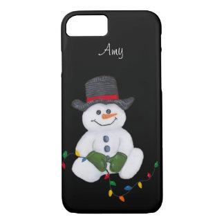 Cas se reposant de l'iPhone 7 de bonhomme de neige Coque iPhone 7