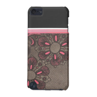 Cas tourbillonnant de contact d'iPod de fleurs de