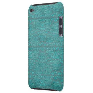 Cas turquoise de contact d'iPod d'impression de bi Étuis iPod Touch