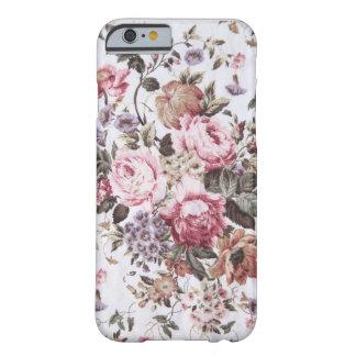 cas vintage de l'iPhone 6 de tissu de vieux roses Coque Barely There iPhone 6