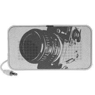 Cas vintage de téléphone d'appareil-photo haut-parleurs notebook
